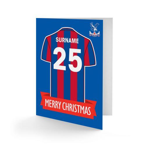 Crystal Palace FC Shirt Christmas Card